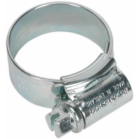 Sealey HCJ0X Hi-Grip Hose Clips Zinc Plated Ø17-25mm Pack Of 20