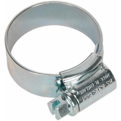 Sealey HCJ1A Hi-Grip Hose Clips Zinc Plated Ø22-30mm Pack Of 20