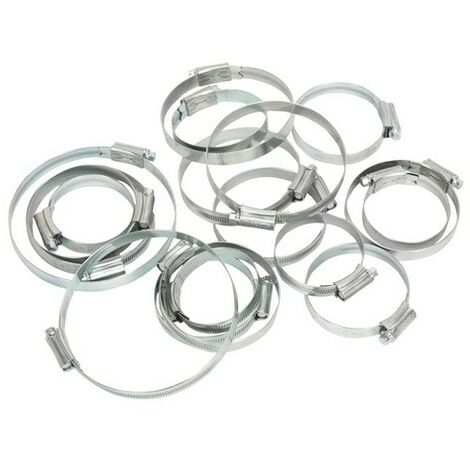 Sealey HCJ26A Hi-Grip Hose Clips Assortment Sizes 60-160 Pack of 26