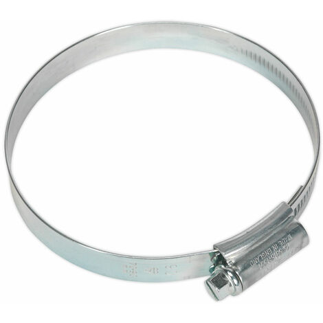 Sealey HCJ4 Hi-Grip Hose Clips Zinc Plated Ø70-90mm Pack Of 10