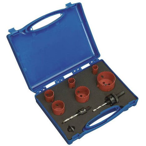 Sealey HKP9 9pc Plumber's Hole-Saw Kit