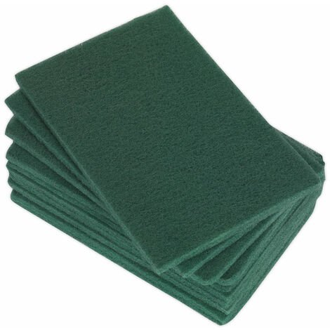 Sealey HP1523F Hand Pads 150 x 230mm Fine Pack of 10