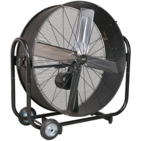 "Sealey HVD42B Industrial High Velocity Drum Fan 42"" Belt Drive 230V"