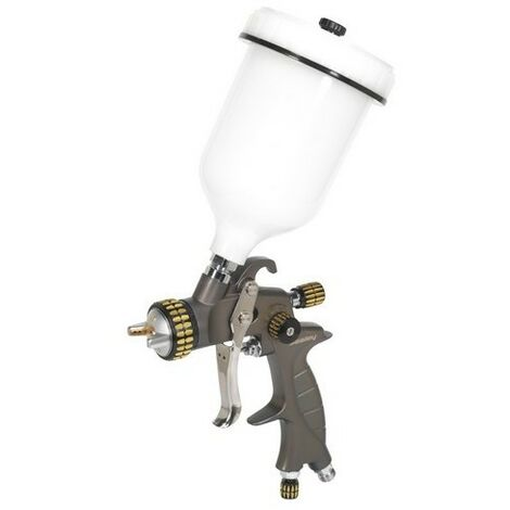 Sealey HVLP01 HVLP Gravity Feed Spray Gun 1.4mm Set-Up
