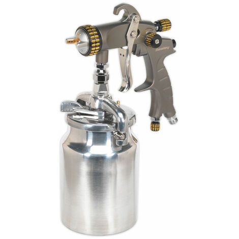 Sealey HVLP02 HVLP Suction Feed Spray Gun 1.7mm Set-Up