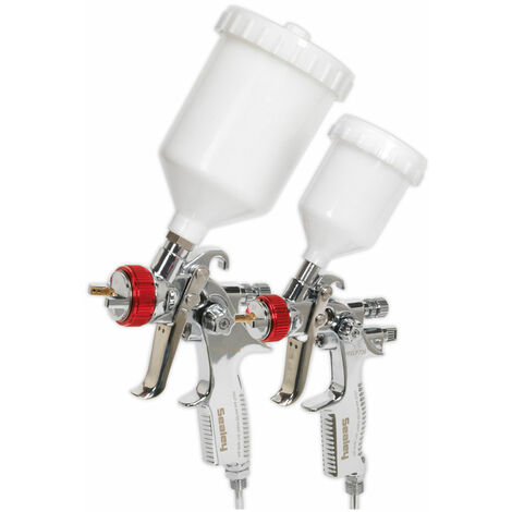 Sealey HVLP774 HVLP Gravity Feed Top Coat/Touch-Up Spray Gun Set