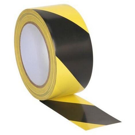 Sealey HWTBY Hazard Warning Tape 50mm x 33 Metre Black/Yellow