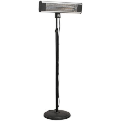 Sealey IFSH1809R High Efficiency Carbon Fibre Infrared Patio Heater 1800W/230V with Telescopic Floor Stand