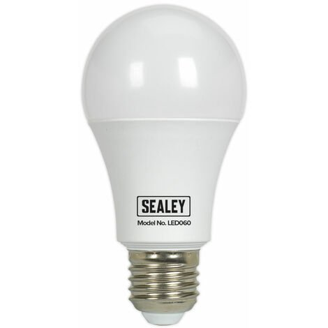 Sealey LED060 Bulb 10W/230V SMD LED 6500K E27 Edison Screw Cap - White Light