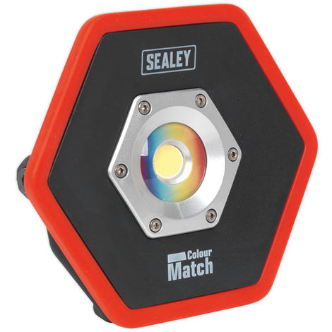 Sealey LED065 Rechargeable Floodlight 10W COB LED Li-on Colour Matching CRI-95