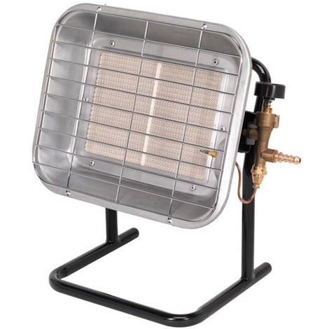 Sealey LP14 Space Warmer Propane Heater with Stand 10,250-15,354Btu/hr
