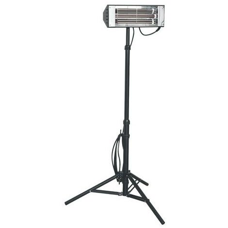 Sealey LP1500 1500W Infrared Quartz Heater - Tripod Mounted