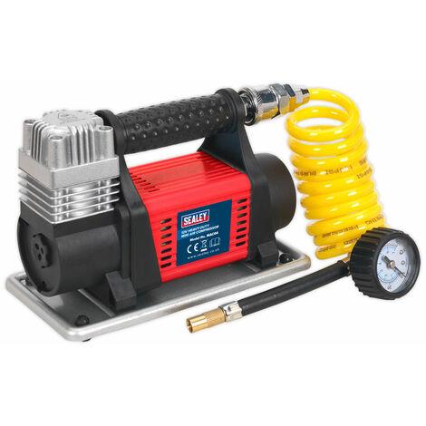 Sealey MAC04 Tyre Inflator/Mini Air Compressor 12V Heavy-Duty