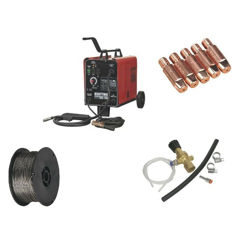 MIGHTYMIG150 Professional MIG Welder 150amp 230v With Gas Conversion Kit - Sealey