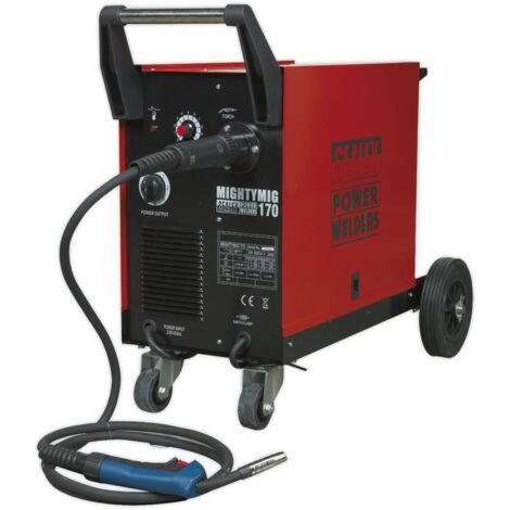 Sealey MIGHTYMIG170 Professional Gas/No-Gas MIG Welder 170Amp with Euro Torch