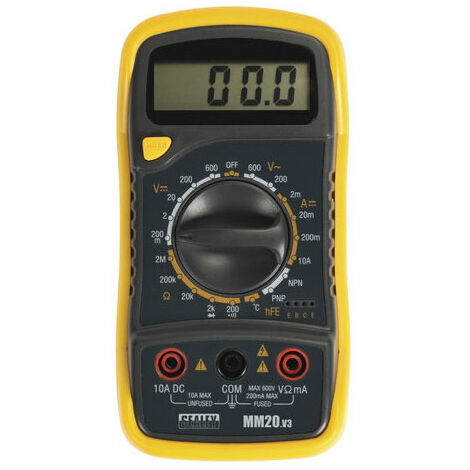 Sealey MM20 LED Digital Display Multimeter with Thermocouple 8 Function