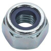 20 Pack Steel Nut Affix BZP M2.5 Bright Zinc Plated Threaded Locknut Hexagonal