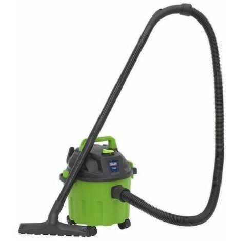Sealey PC102HV Vacuum Cleaner Wet & Dry 10ltr 1000W/230V - Hi-Vis Green