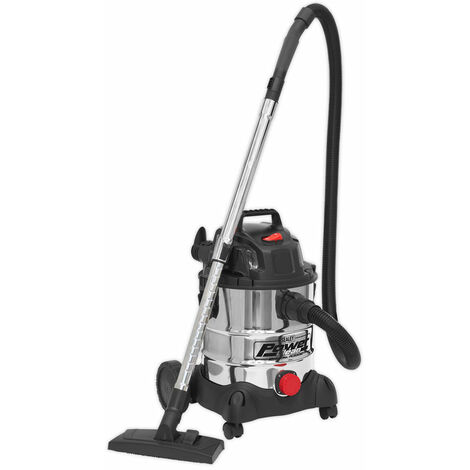 Sealey PC200SD Vacuum Cleaner Industrial Wet & Dry 20ltr 1250W/230V