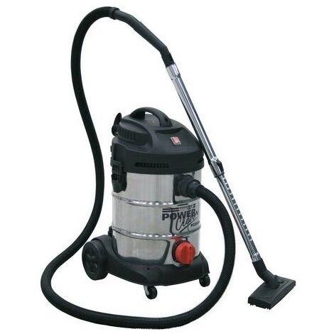 Sealey PC300SD 30ltr Wet & Dry Industrial Vacuum Cleaner 1400W Stainless Bin