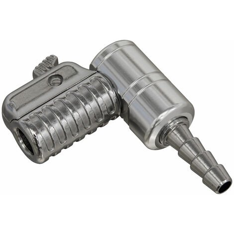 Sealey PCL6AT 90° Angled Swivel Tyre Inflator Clip-On Connector 6mm Bore