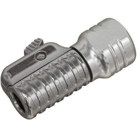 """Sealey PCL6S Straight Swivel Tyre Inflator Clip-On Connector 1/4""""BSP(F)"""