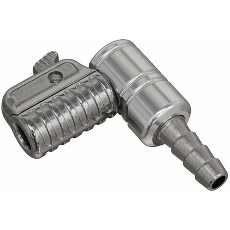 Sealey PCL8A 90° Angled Swivel Tyre Inflator Clip-On Connector 8mm Bore