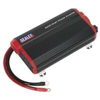 Sealey PI1500 Power Inverter Modified Sine Wave 1500W 12V DC - 230V 50Hz