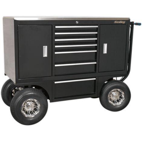 Sealey Pit/Yard Cart 7 Drawer Heavy-Duty