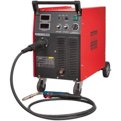 Sealey POWERMIG3525 Professional MIG Welder 250Amp 415V 3ph with Binzel Euro Torch