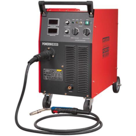 Sealey POWERMIG3530 Professional MIG Welder 300Amp 415V 3ph with Binzel Euro Torch