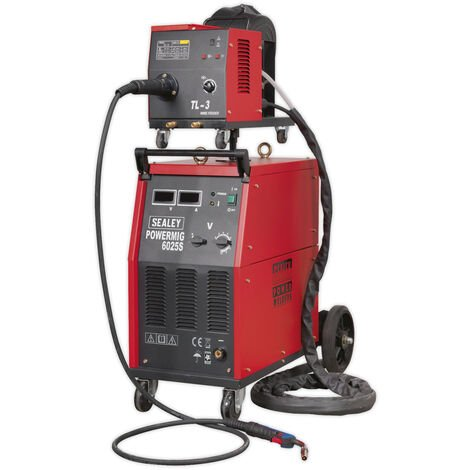 Sealey Powermig6025S Professional Mig Welder 250Amp 415V With Binzel Euro Torch