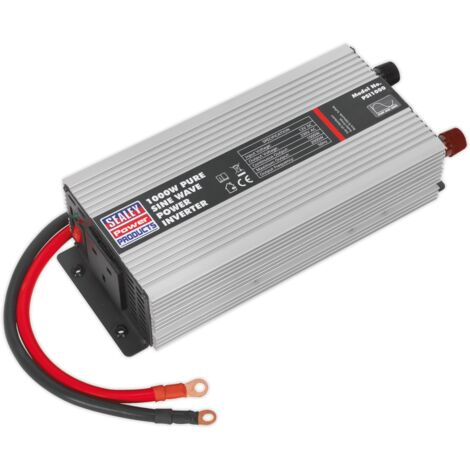 Sealey PSI1000 Power Inverter Pure Sine Wave 1000W 12V DC - 230V 50Hz