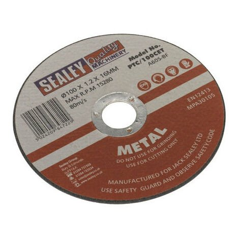 Sealey PTC/100CET Cutting Disc Diameter 100 x 1.2mm 16mm Bore