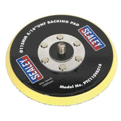 "Sealey PTC115VA516 Hook & Loop Backing Pad 115mm 5/16""UNF"
