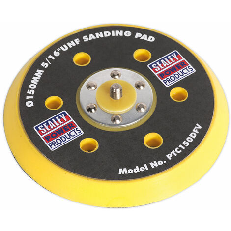 "Sealey PTC150DFV DA Dust-Free Backing Pad for Hook & Loop Discs Ø145mm 5/16""UNF"