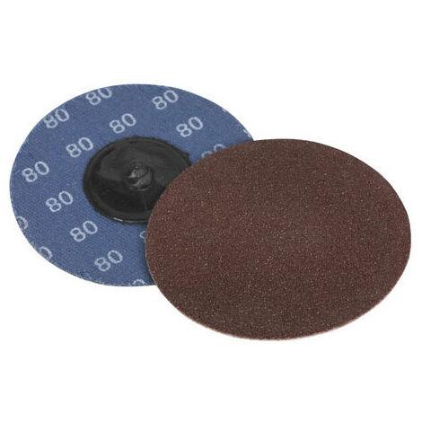 Sealey PTCQC7580 80Grit Diameter 75mm Quick Change Sanding Disc Pack of 10