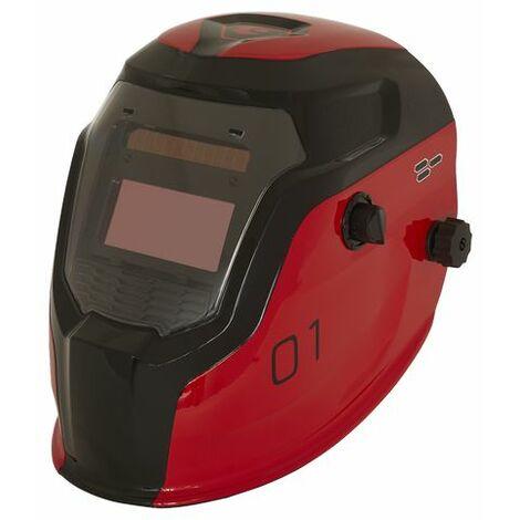 Sealey PWH1 Auto Darkening Welding Helmet Shade 9-13 - Red