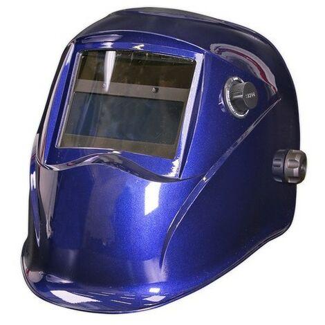 Sealey PWH611 Welding Helmet Auto Darkening Shade 9-13 - Blue