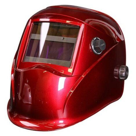 Sealey PWH612 Welding Helmet Auto Darkening Shade 9-13 - Red