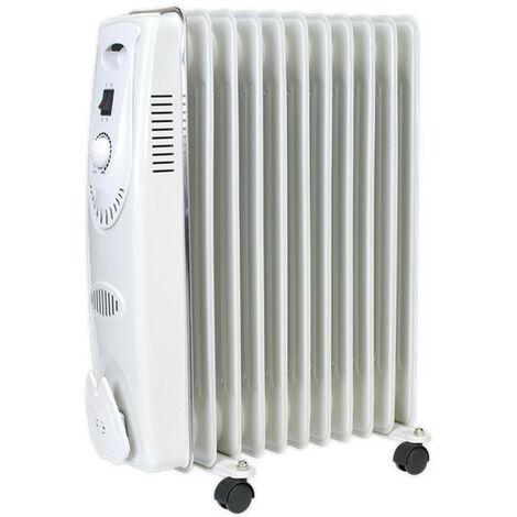 Sealey RD2500 Oil Filled Radiator 2500W/230V 11 Element