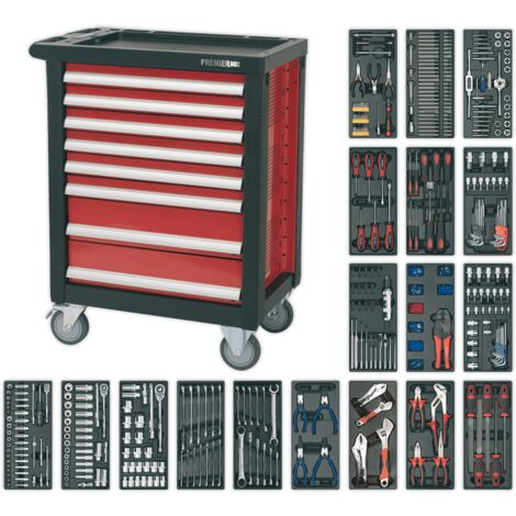 Sealey Rollcab 8 Drawer with Ball Bearing Runners & 707pc Tool Kit
