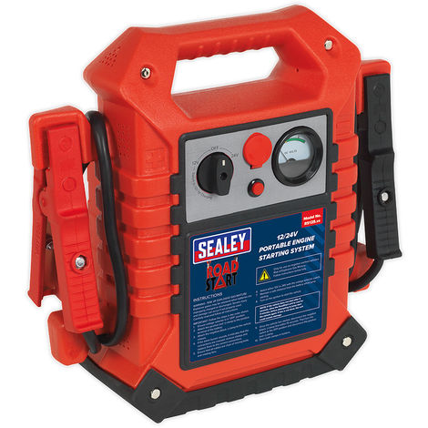 Sealey RS125 RoadStart Emergency Power Pack 12/24V 3000/1500 Peak Amps