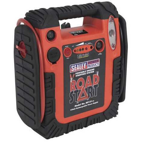 Sealey RS131 12V RoadStart Emergency Battery Booster Jump Start Power Pack 900A