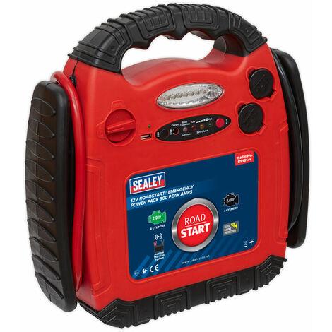 Sealey RS131 Roadstart Emergency Power Pack 12V 900 Peak Amps