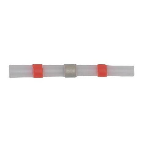 Sealey RTSSB25 Heat Shrink Butt Connector Solder 22-18 AWG Red Pack of 25