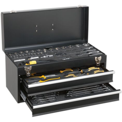 Sealey S01055 Portable Tool Chest 2 Drawer with 90pc Tool Kit