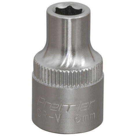 "Sealey S3806 Walldrive Socket 6mm 3/8""sq Drive"