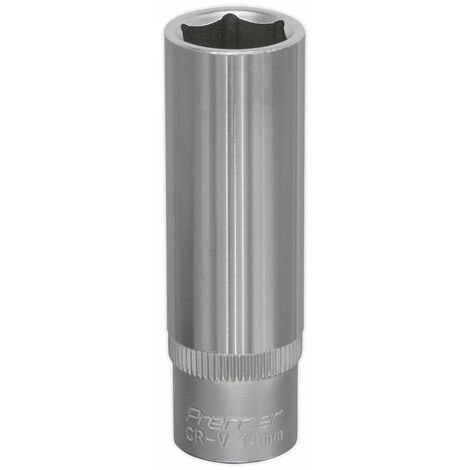 "Sealey S3814D Walldrive Socket 14mm Deep 3/8""sq Drive"