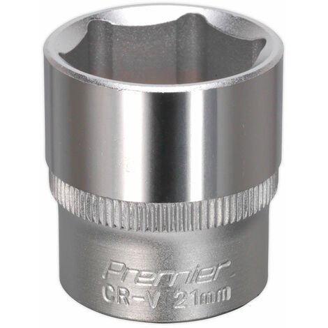 "Sealey S3821 Walldrive Socket 21mm 3/8""sq Drive"